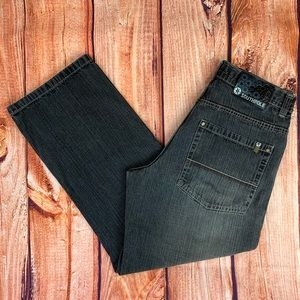 South Pole Men's Relaxed Dark Wash Jeans